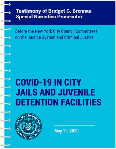 vector blue spiral notebook with Bridget's testimony of Covid-19 in city jails and juvenile detention