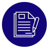 document icon in a blue circle