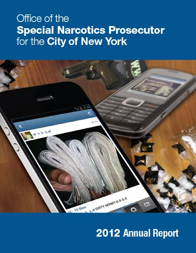 Annual Report 2012 iphone with image of bundles of cash on it