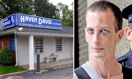 Haven Drugs Pharmacy where David Laffer — a patient of Li's — gunned down four people.